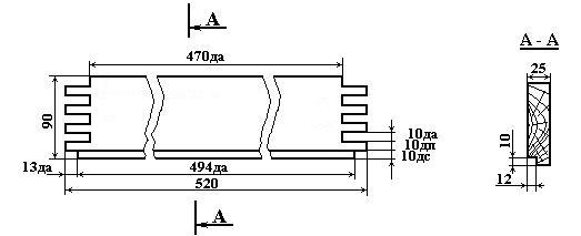 Стенка подкрышника улья, размеры