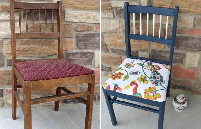 Обновляем старую мебель на даче