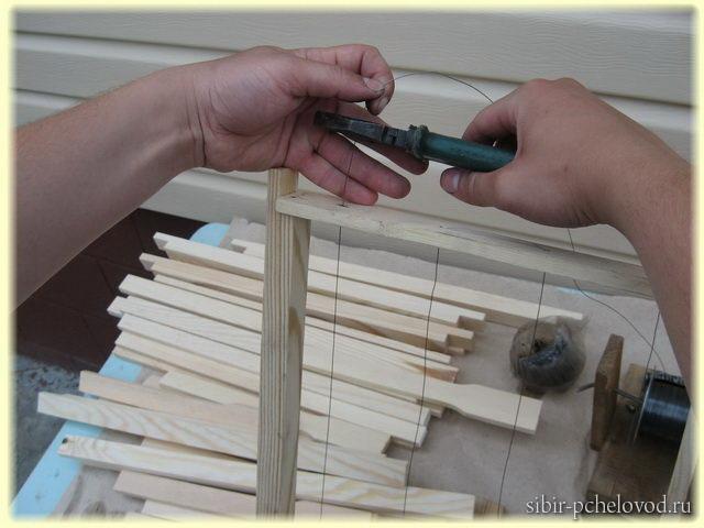 изготовление рамок для ульев