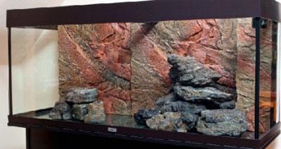 Оформляем аквариум камнями