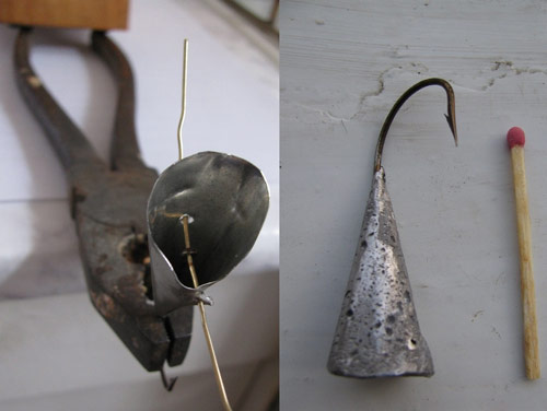 Джиговая мормышка, натуральная «съедобка»