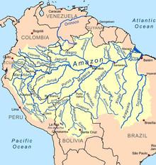 Ареал обитания Северума (Heros efasciatus) - бассейн реки Амазонка.