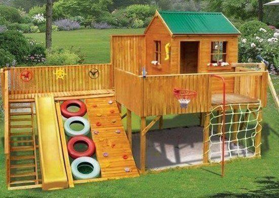 Сделать детскую площадку на даче своими руками инструкция и фото