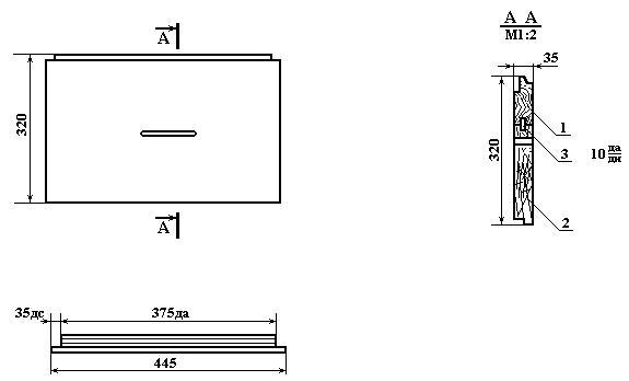 Размеры стенки корпуса улья, чертеж
