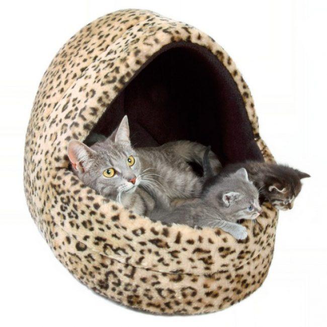 Лежак для кошки своими руками