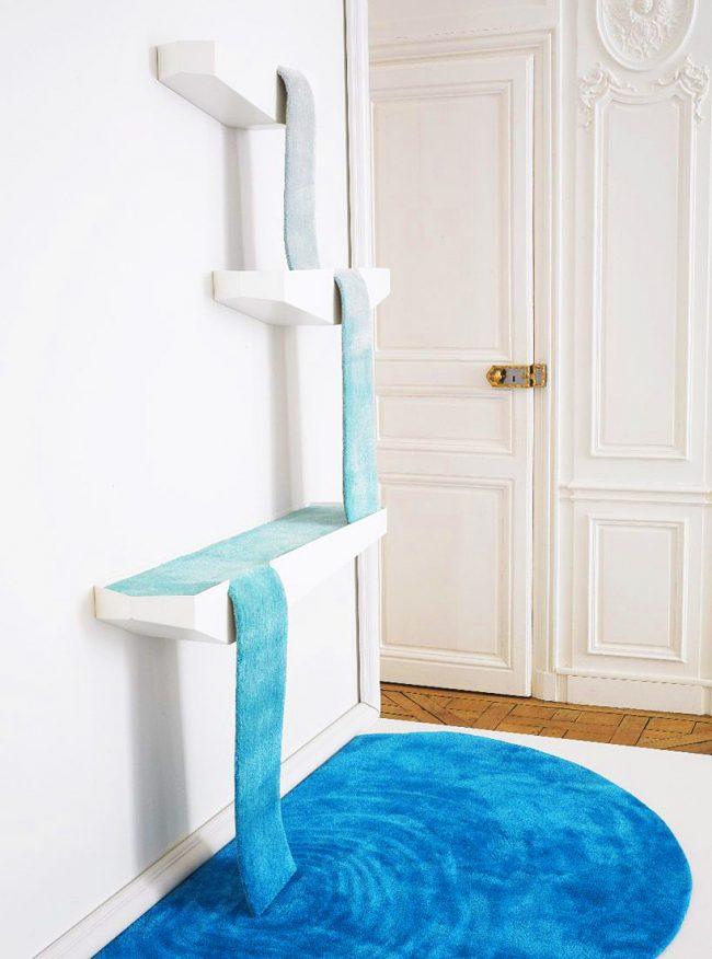Дизайнерский коврик для кошек в виде плавно падающего водопада