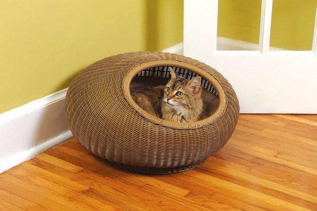 Уютный домик из ротанга